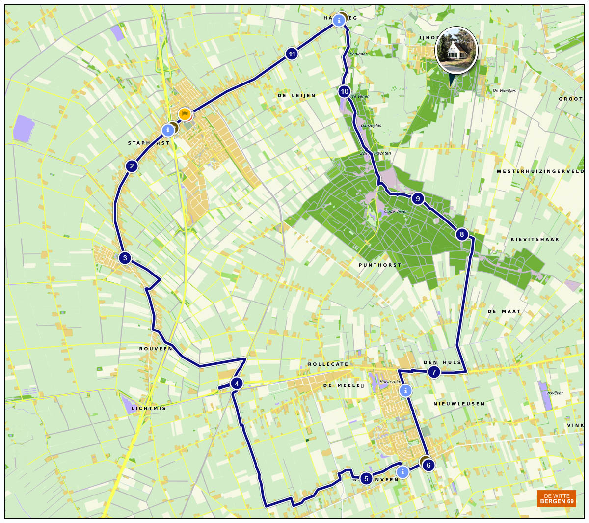 Discover Staphorst and surroundings, 37 km